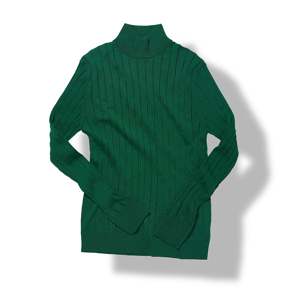 Ribbed Turtleneck - Green