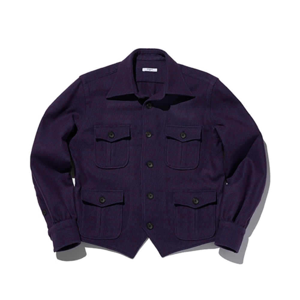 "B&TAILOR ""V JACKET"" PURPLE"