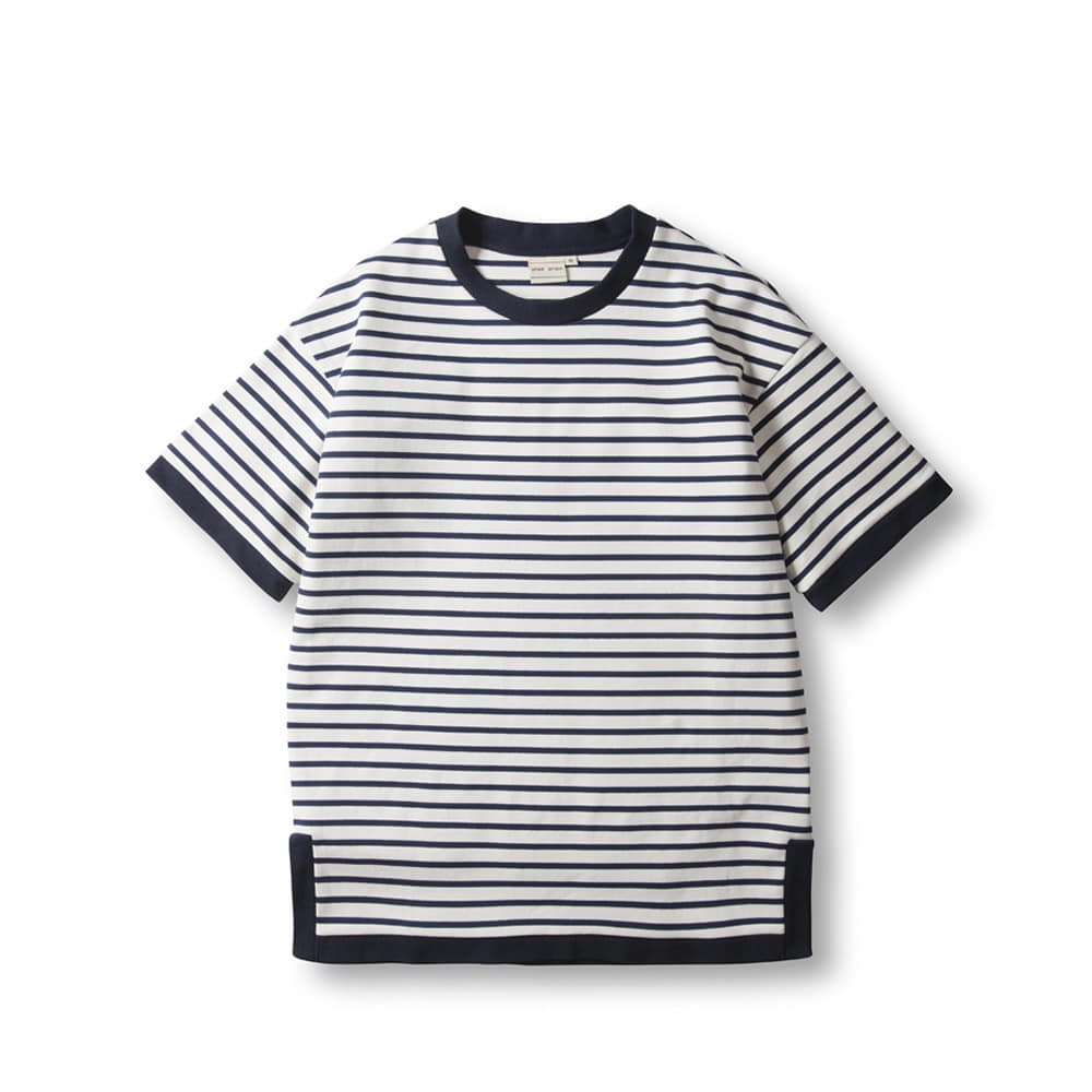 Marin Stripe T - Shirts - White